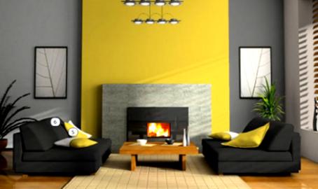 Ruang Tamu Warna Kuning Library Living Room Home Decor Home