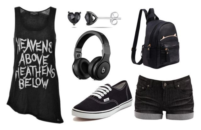 """Untitled #283"" by anny-giurgi on Polyvore featuring Pieces, Evil Twin, Vans and Miadora"
