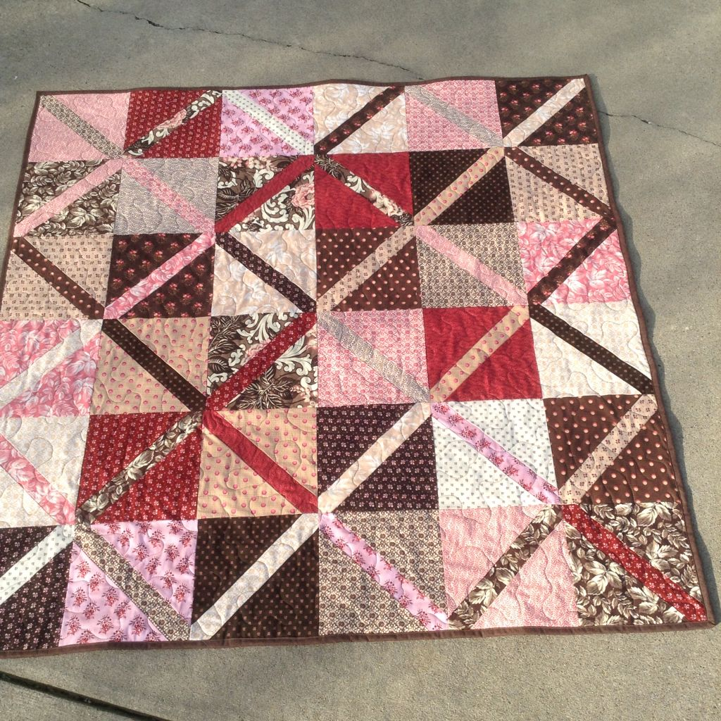 Lattice Quilt From Layer Cake