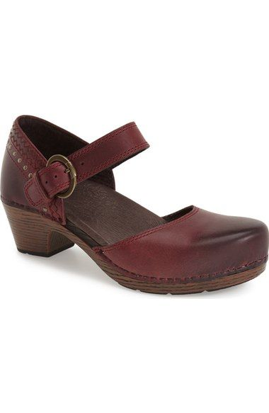 Careful Dankso Womens Burgundy Leather Nurse Clog Mules Slip-on Shoes Sz 38 With Traditional Methods Clothing, Shoes & Accessories