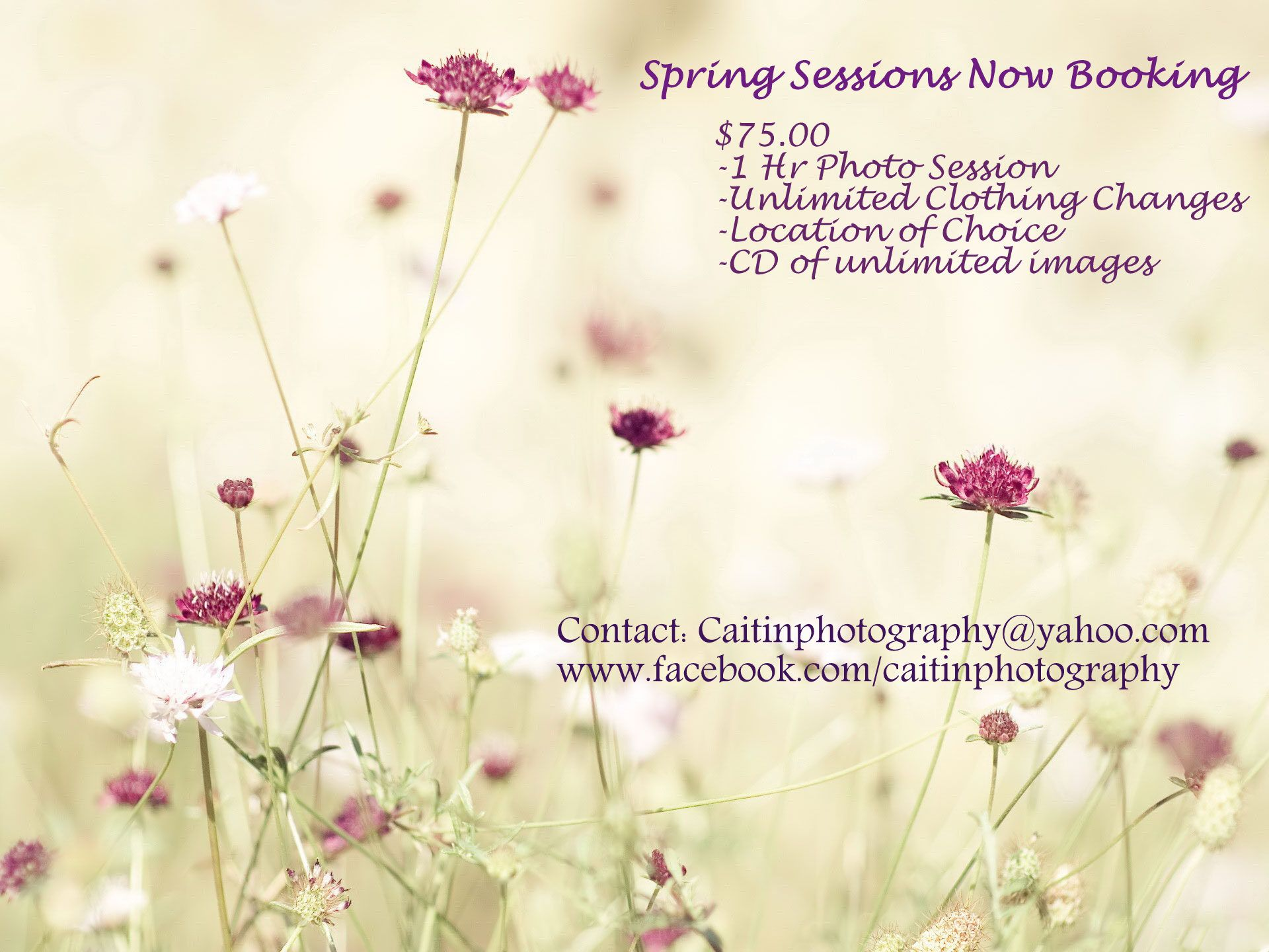 Book your session introductory prices are for a limited