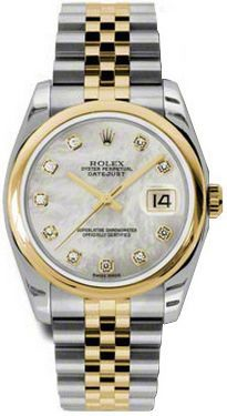 17202a88b00 Rolex Watches Collection For Men : Rolex Datejust 36 Mother of Pearl  Diamond Dial Mens Watch
