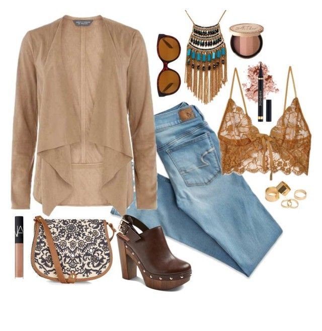 """""""Gypsy Jean"""" by dazzling-dazed-dayz ❤ liked on Polyvore featuring American Eagle Outfitters, Accessorize, Native, Dorothy Perkins, For Love & Lemons, Farylrobin, Bobbi Brown Cosmetics, Leslie Danzis, Pieces and Yves Saint Laurent"""