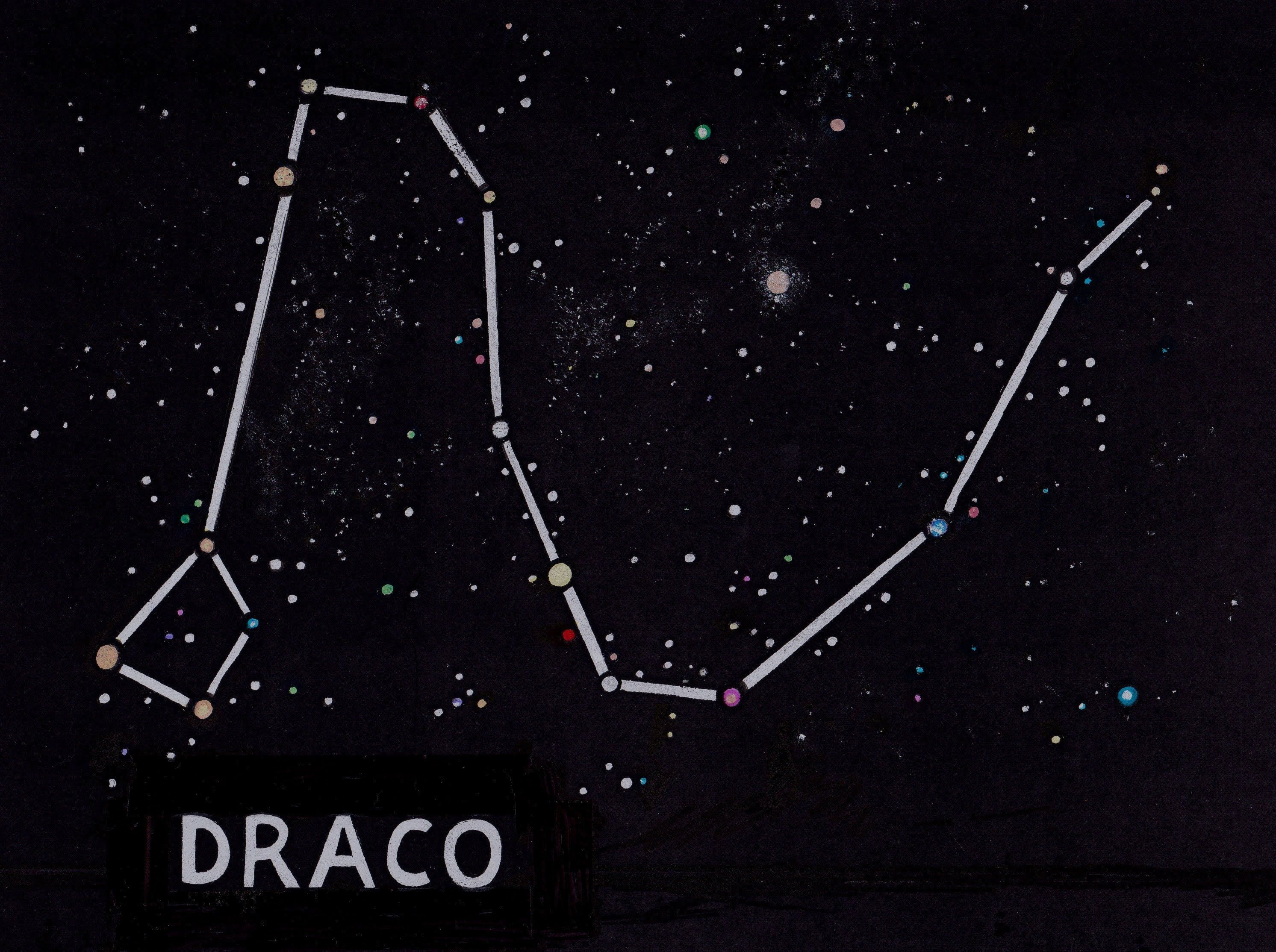 draco constellation tattoo in 2020 Draco constellation