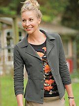 Women's Knit Knack Blazer   Women's Sweatshirt Blazer   Sahalie