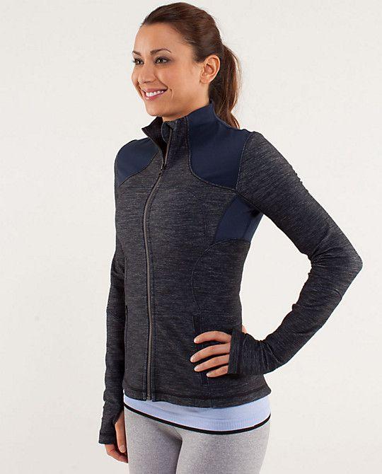 de2e34a0dc Lululemon Forme Jacket $108 - reversible slub denim inkwell/inkwell size 8