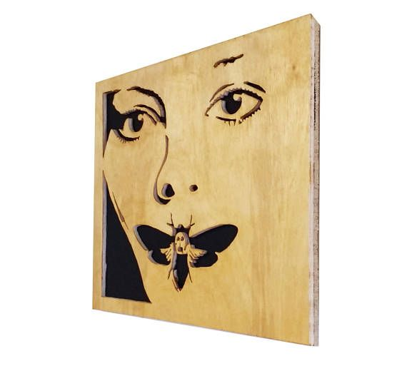 The silence of the lambs - scroll saw portrait - Plywood - Wall art ...