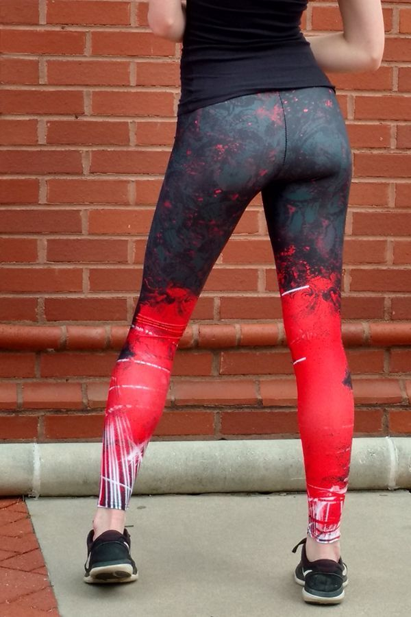 Make a splash with these soft, colorful yoga leggings. Perfect for a run, hike or walk too. Women's...