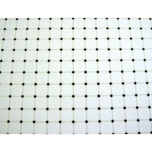 black and white diamond tile floor. Dolls House Miniature 1:12 Scale Moulded Black White Diamond Tile Flooring Sheet And Floor