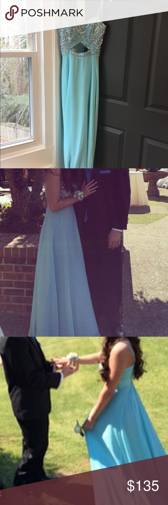 Light blue size prom dress fits like a prom dress prom