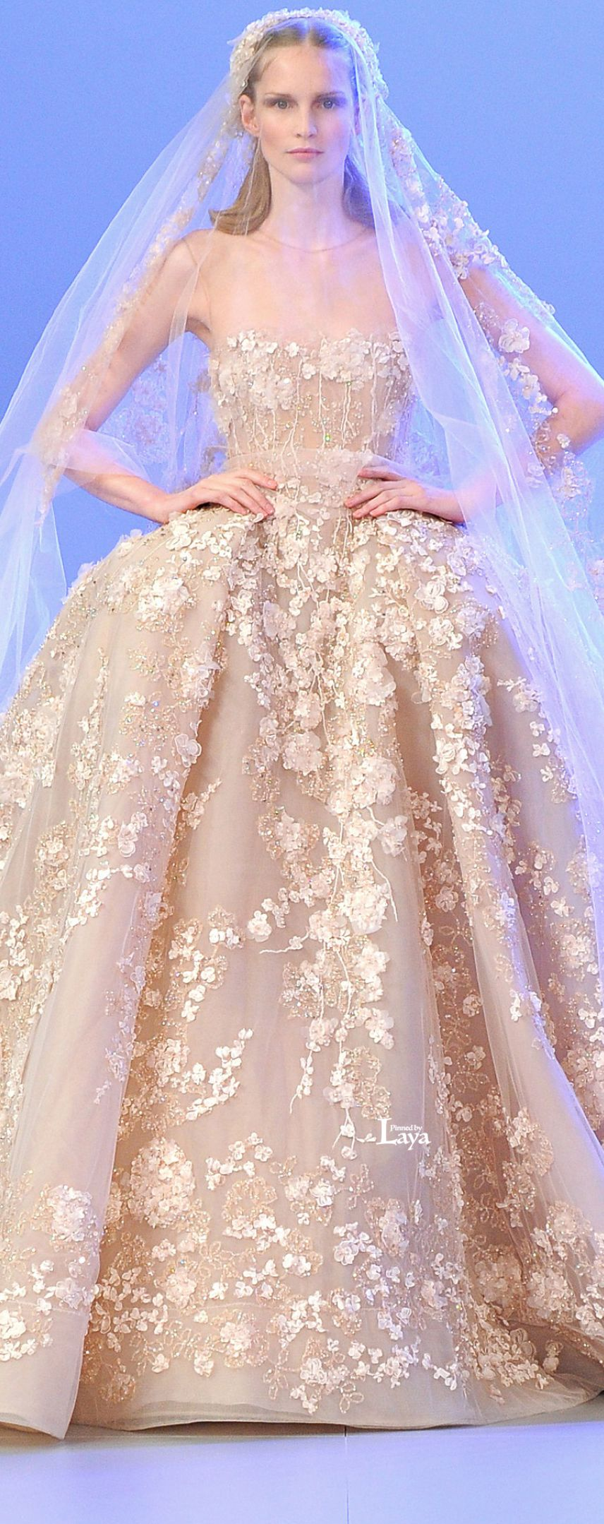♔LAYA♔ELIE SAAB S/S 2014 COUTURE♔ | Wedding | Pinterest | Novios ...