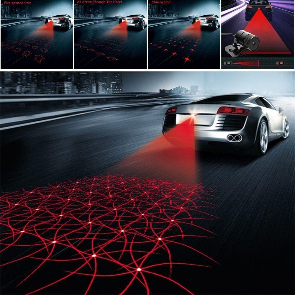 Car Styling Laser Anti Collision Rear-end 12v Led Car Fog
