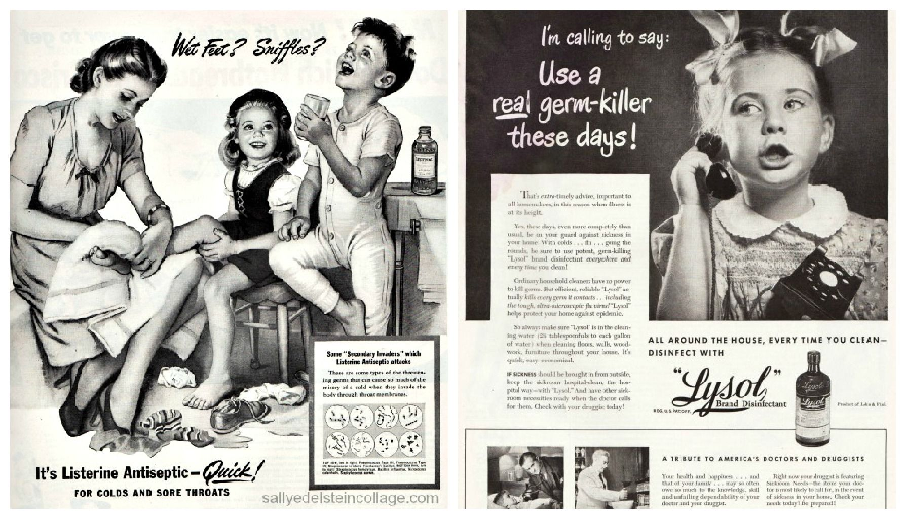 Image result for Glamorous vintage woman sick with flu