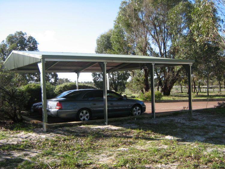 Get a quote from Perth\u0027s Garage Wholesalers for an easy to assemble self-erect garage kit for one two or multiple cars with either sliding doors or roller ... & Double Carport kit #DoubleCarport #CarportKit http://www ...