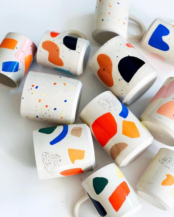 "O-M OBJECT-MATTER CERAMIC on Instagram: ""????More mugs and planters"" #ceramicmugs"