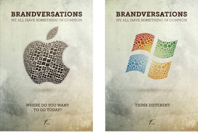 Cuando se intercambian los logos de las grandes marcas rivales