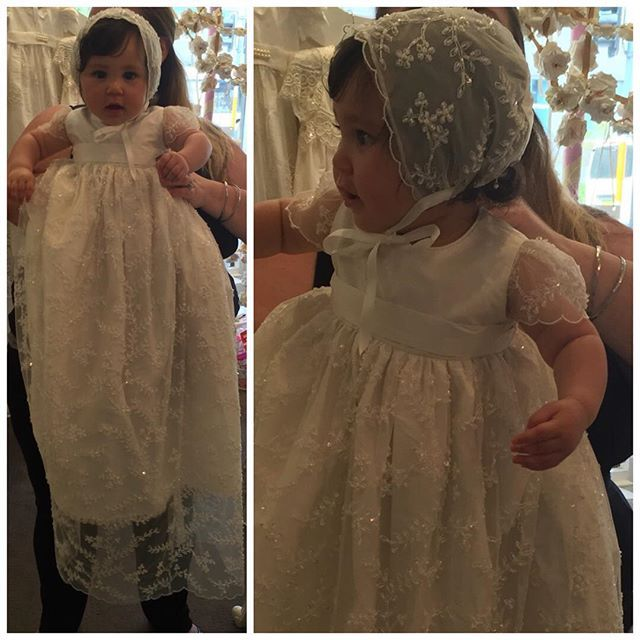 White/ ivory lace vintage baptism dresses for the newborn baby boy ...