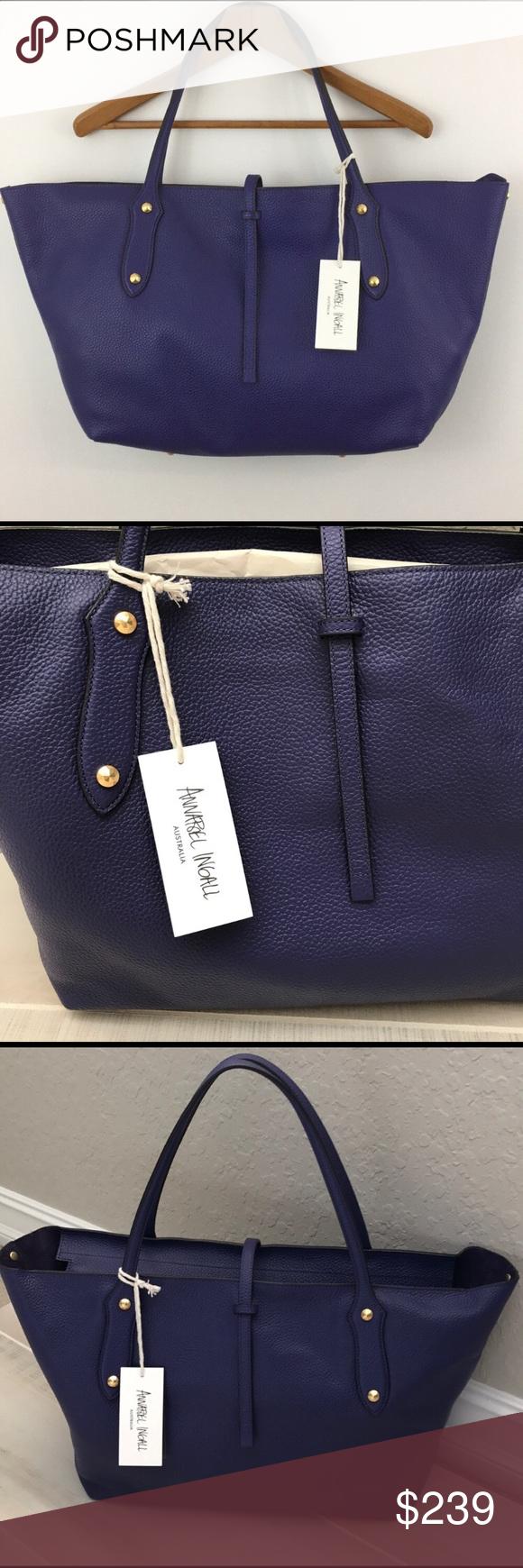 1315050f40c Spotted while shopping on Poshmark  Annabel Ingall Large Indigo tote bag!   poshmark