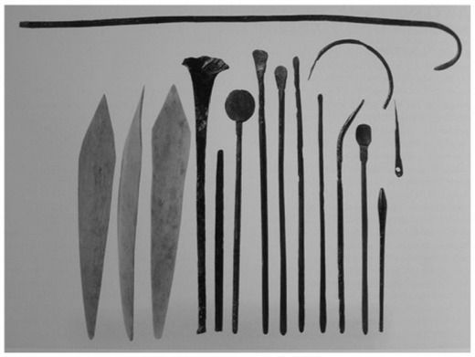 Medical instruments from Mesopotamia