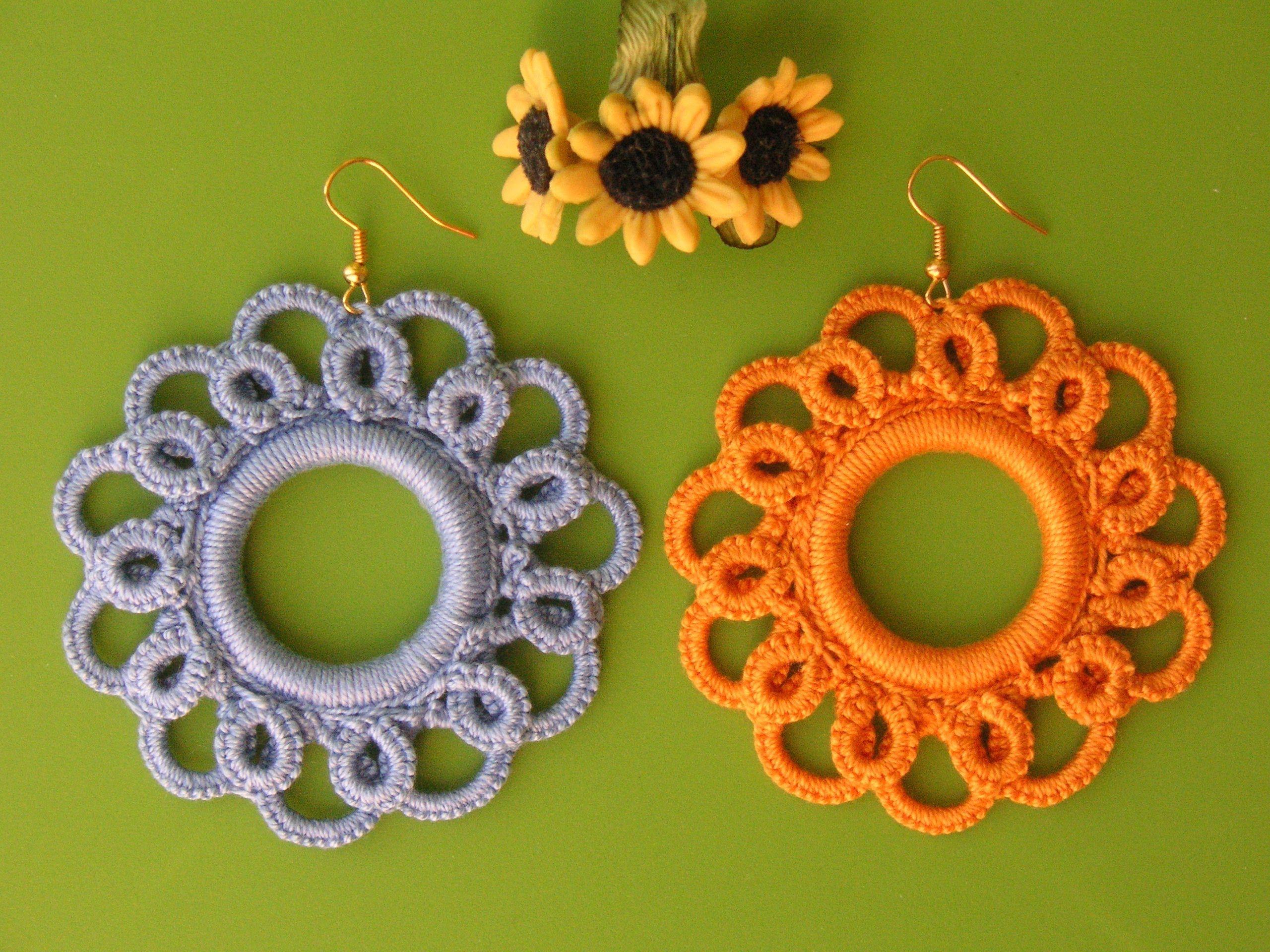 13 Tutorial Orni Uncinetto Chiacchierino Ad Ago Ankars Earrings Needle Tatting Crochet