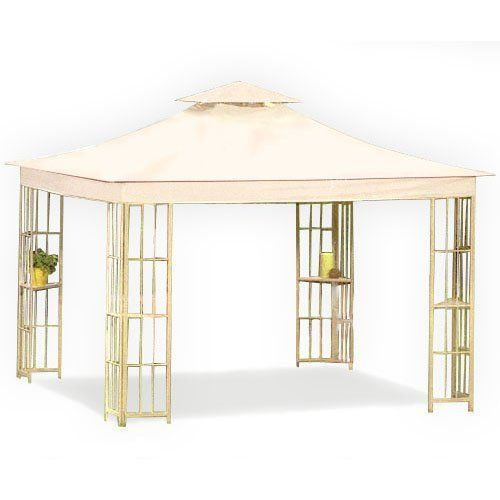 Special Offers Cheap Garden Winds Replacement Canopy For Lowes S J 109 Gazebo Riplock 500 In Stock Free Shipping You Can Save More Money Chec