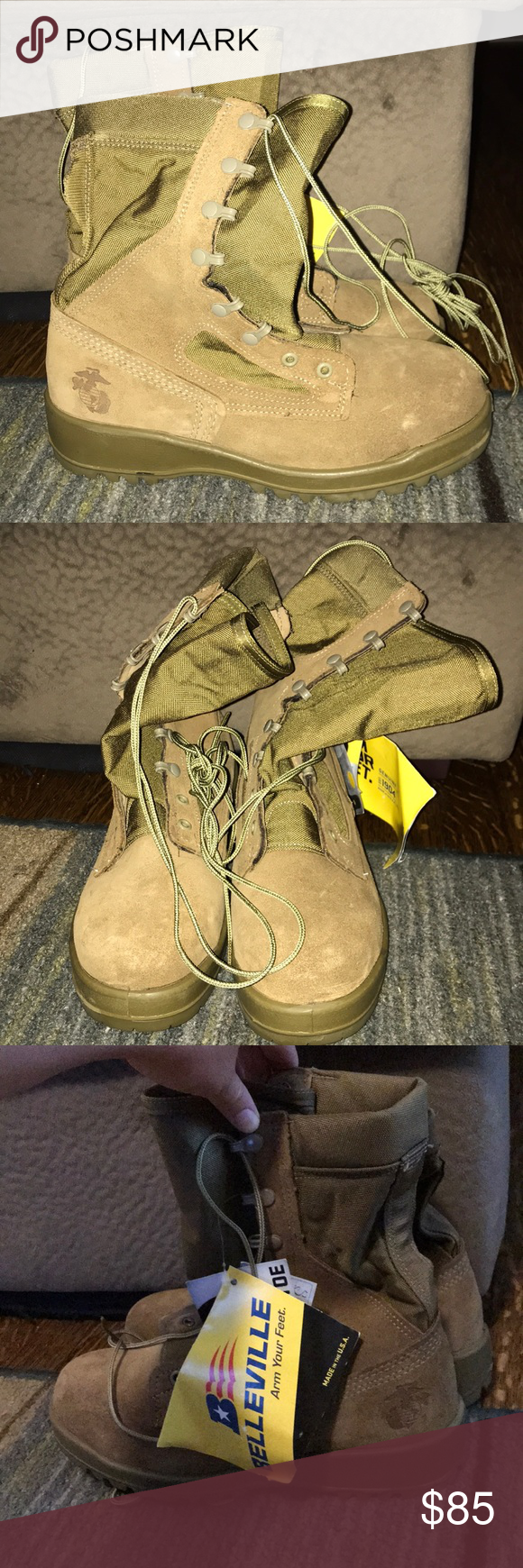 53dd8e015ef NEW Belleville Steel Toe USMC boots BRAND NEW WITH TAGS Belleville ...