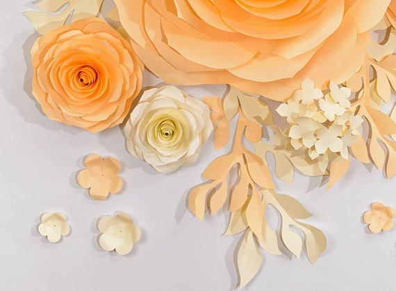 Wedding Backdrop, Large Paper Flowers, Nursery Wall Decorations ...