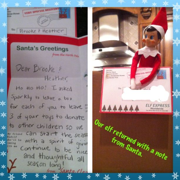 Elf on the shelf returns to our house with a letter from santa i elf on the shelf returns to our house with a letter from santa i used spiritdancerdesigns Choice Image