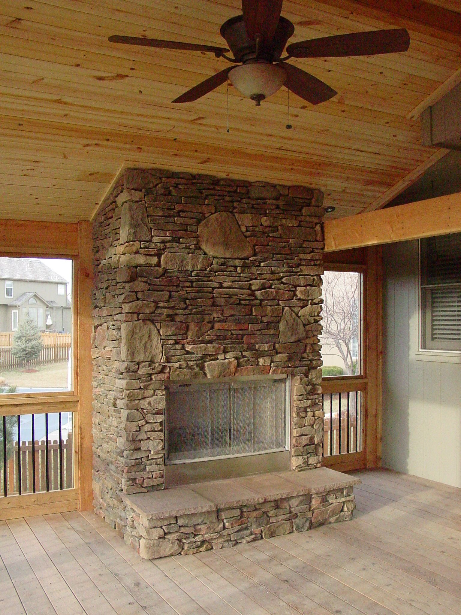Pin By D Layne Jacobs On Masonry Natural Stone Fireplaces Screened In Patio Outdoor Remodel