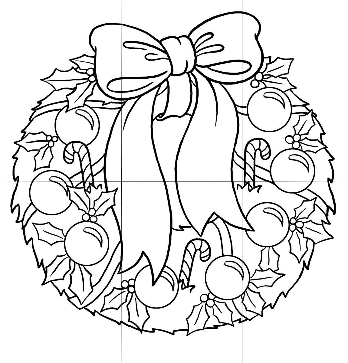 Corona para colorear | Navidad - fiestas de fin de año | Pinterest ...
