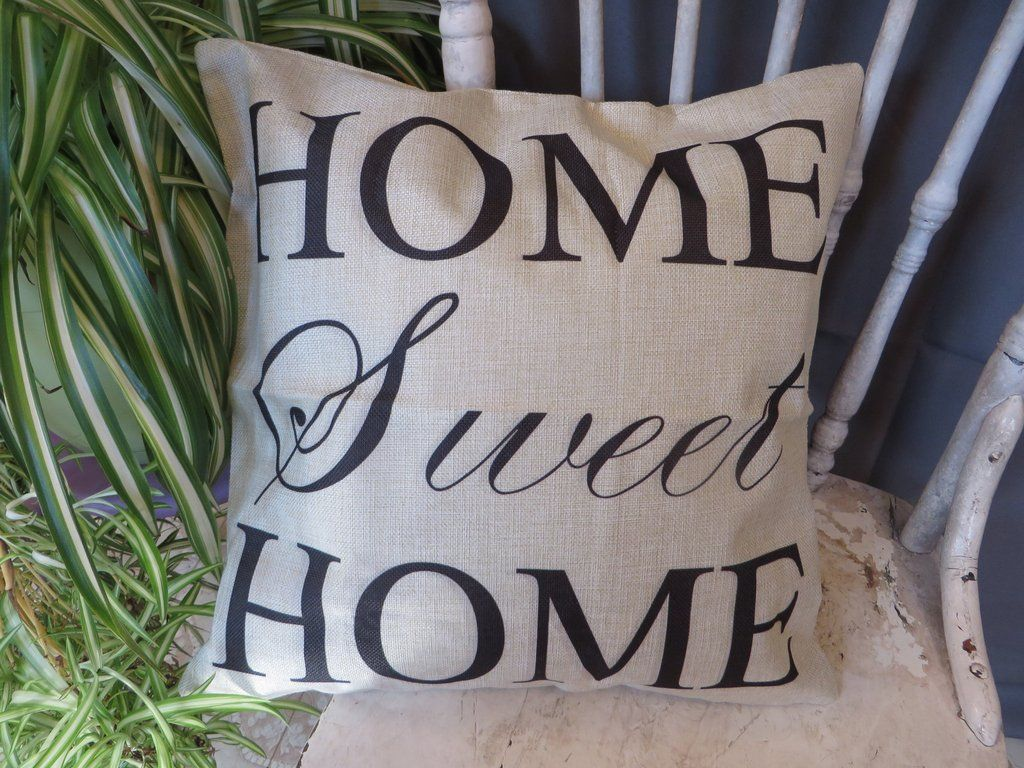 Home sweet home simple words big love linen cushion covers pillow