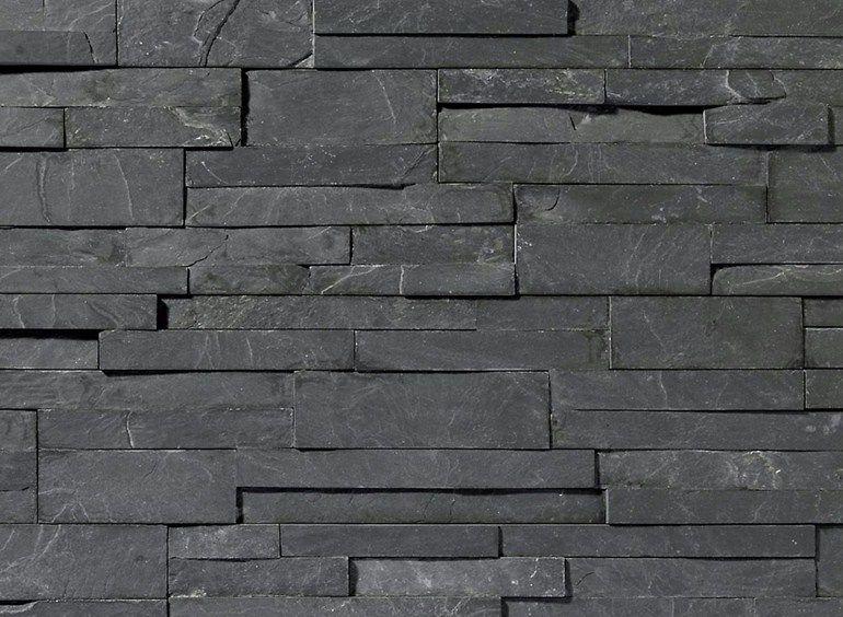 Pietra Natural Stone : Rivestimento di facciata in pietra naturale scaglia nera