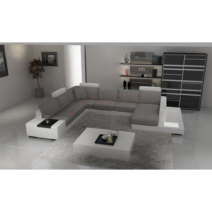 Canapé d\'angle en cuir CELERIS, 2 089,00 €   Canapes Design   Canapé ...
