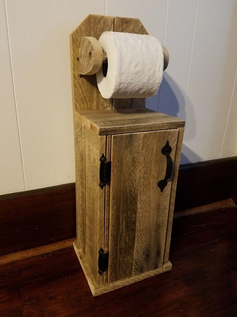 Pallet toilet paper holder fernando en 2019 muebles for Confeccionamos muebles de bano en palet