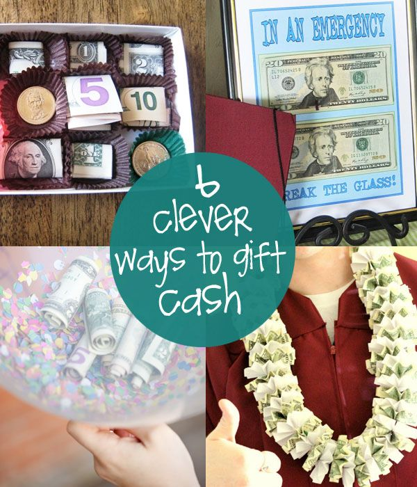 6 clever ways to give cash gifts to make pinterest for Cool ideas to make money