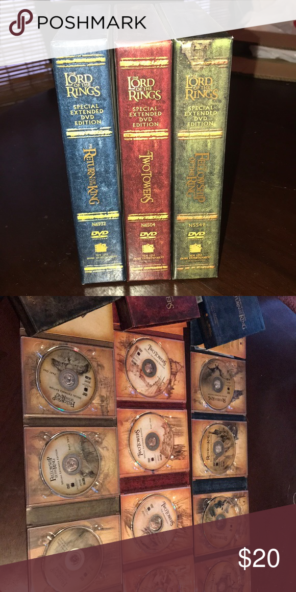 Lord Of The Rings The Motion Picture Trilogy 12 Dvd Box Set Special Extended Motion Picture Lord Of The Rings Trilogy