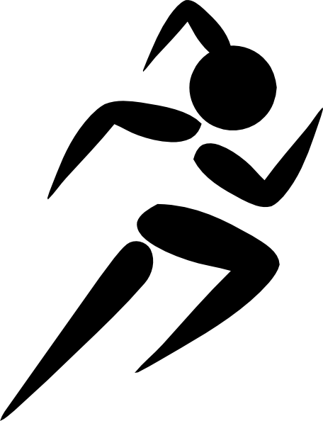 female track runner clip art | Girl Running clip art ...