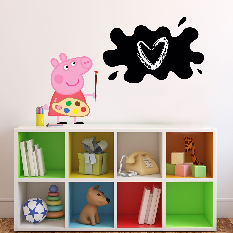 Peppa Pig painting chalkboard wall sticker Peppa pig