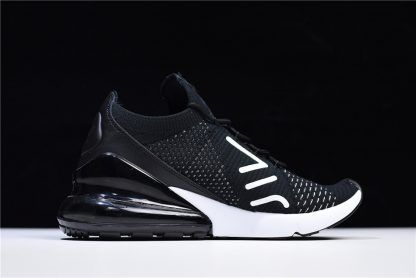 2018 New Nike Air Max 270 Flyknit Black White AH6803-001 Online Sale ... 087011ea9