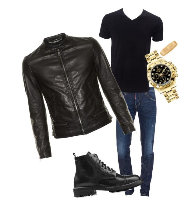 """My husband new look"" by fedemontes on Polyvore featuring Dsquared2, Rolex, Dolce&Gabbana, Marc Jacobs, men's fashion and menswear"