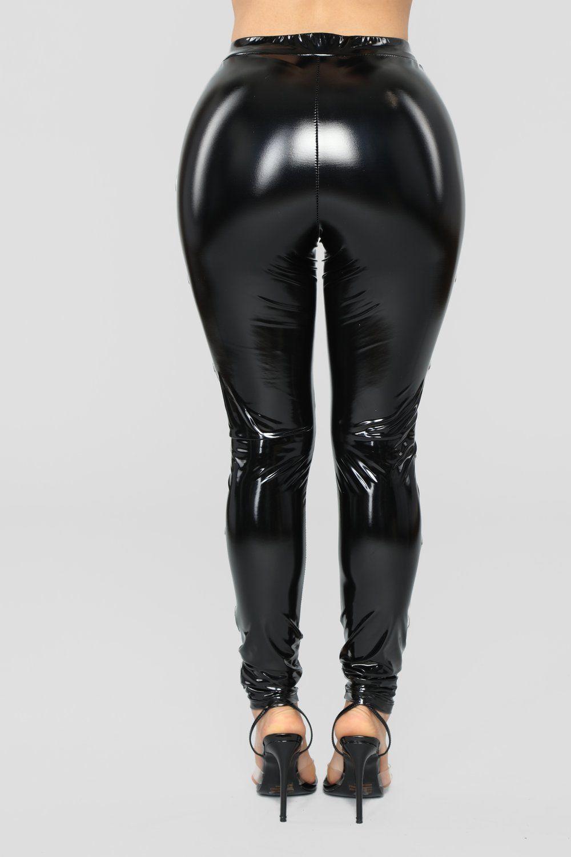 281d1b2d12227 Voodoo Patent Leggings - Black in 2019   Curvy   Black leggings ...
