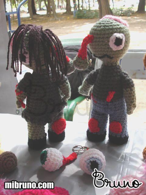 Zombies tejidos con amor de Bruno crochet.    http://mibruno.com/