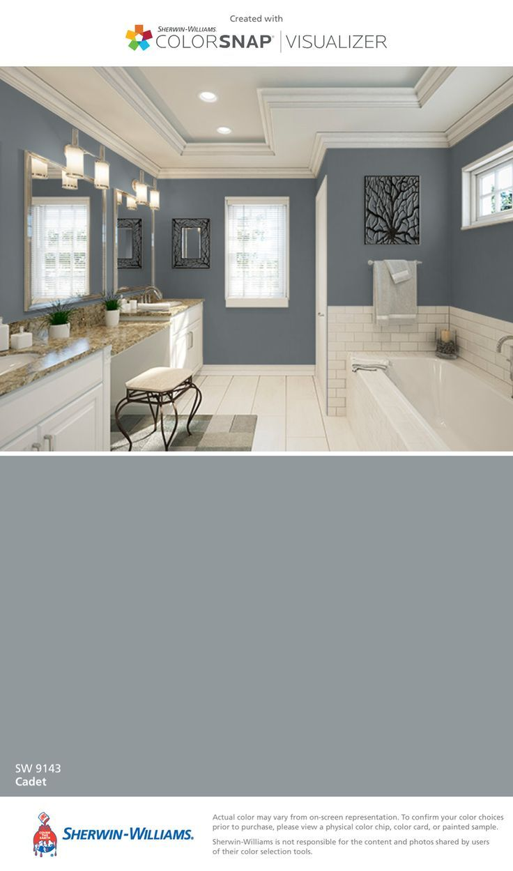 Bathroom By Sherwin Williams Cadet Sw 9143 Paint Colors For