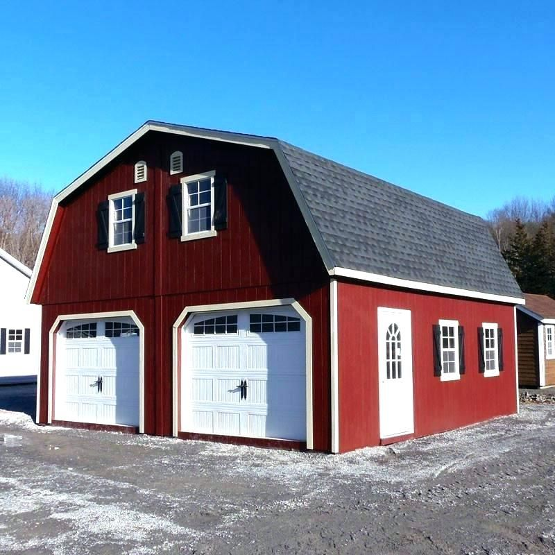24x30 Garage With Loft Garage Kit Garage Kit With Apartment Pole