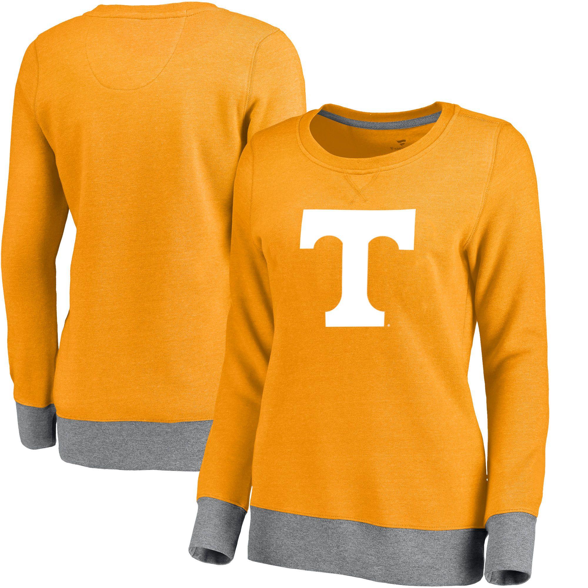 Tennessee Volunteers Women S Team Essentials Horizon Clean Color Heathered Crew Neck Tri Blend Sweatshirt Tenness Sweatshirts Sweatshirts Women Gameday Dress [ 2000 x 2000 Pixel ]
