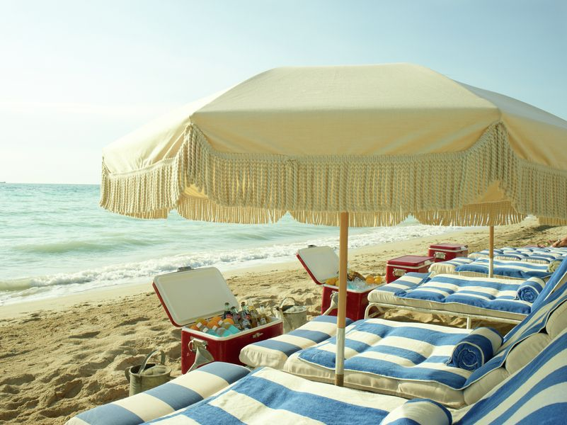 Cabana Striped Cozy Cushions Beach Umbrella Perfection Soho House Gorgeousness