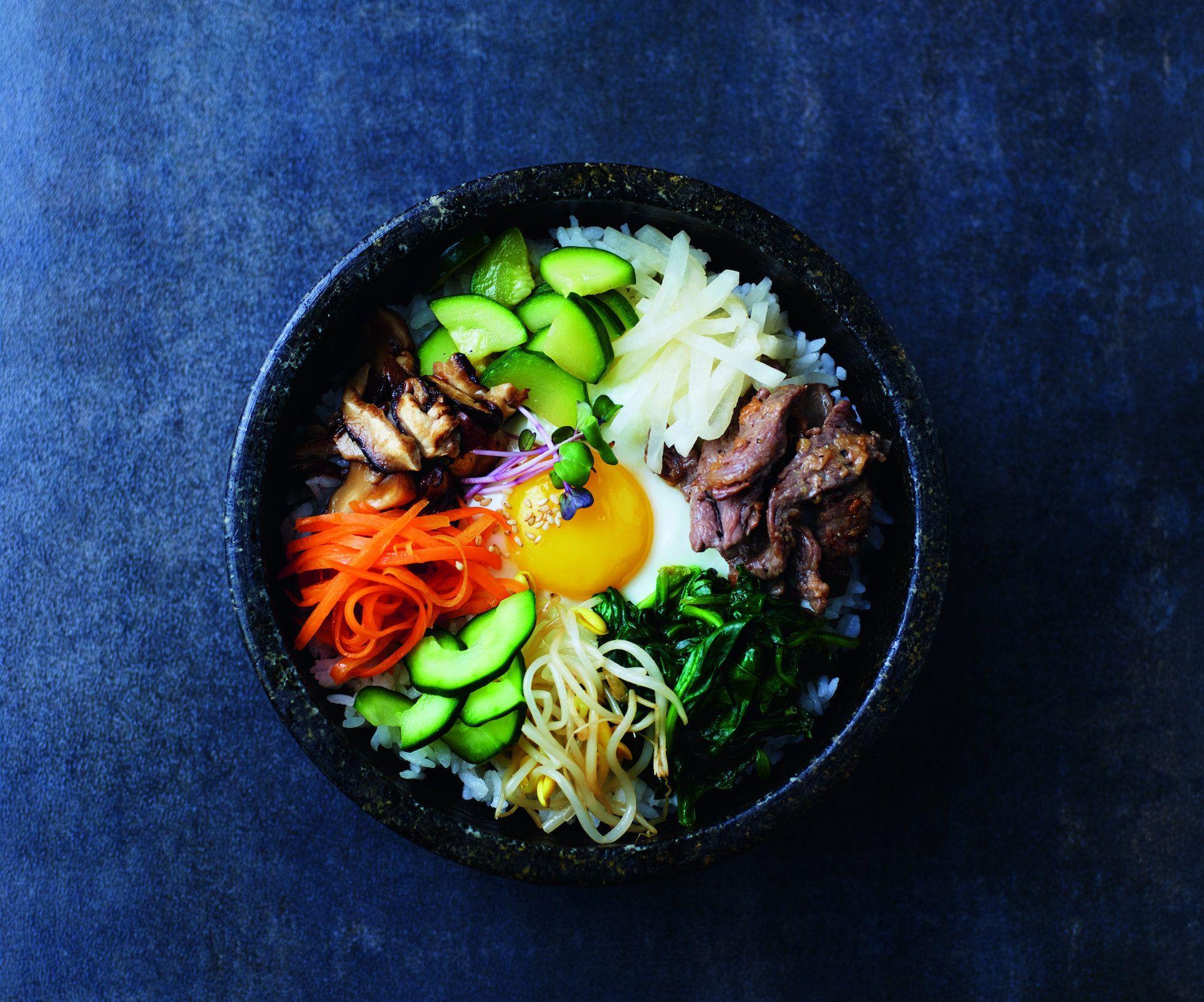 Heidi Strobl Koreanisches Bibimbap Kurier At Best Rice Recipe Bibimbap Recipe Korean Kitchen