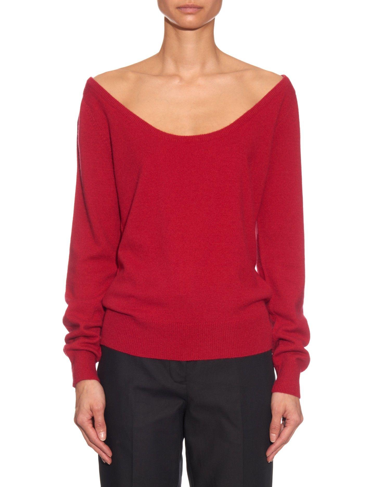Off-the-shoulder cashmere sweater | Raey | MATCHESFASHION.COM US ...