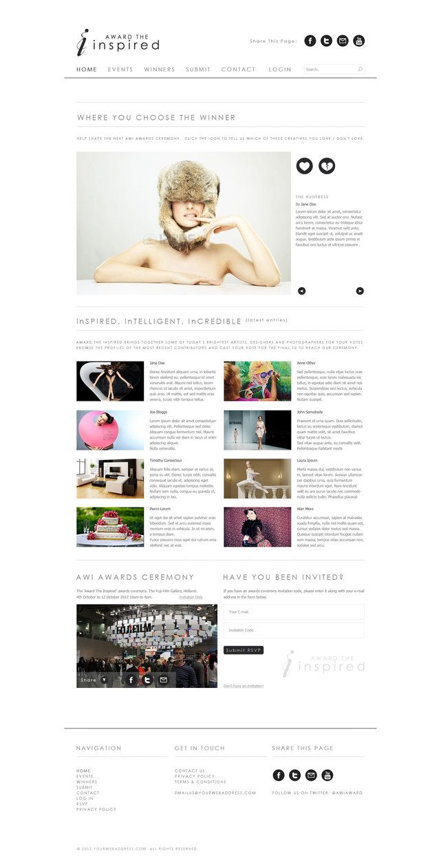 Free clean website design - Brought to you by http://BootcampMedia ...