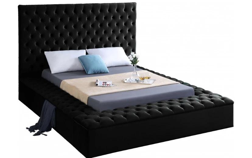 Meridian Bliss Velvet Bed In All Sizes and multiple colors